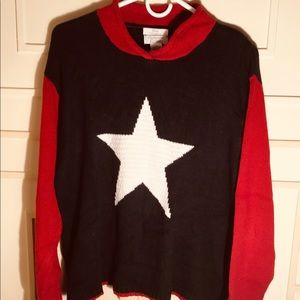 Lone Star Sweater, XL Red/White/Blue, C&B Embroid